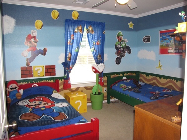 Inspiration mario themed room for your kids evercoolhomes for 8 bit room decor