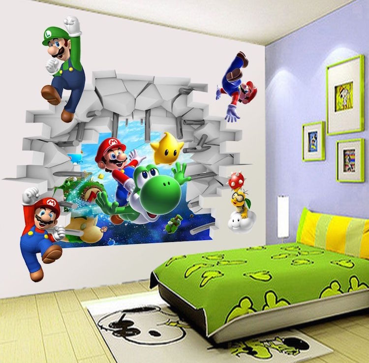 Inspiration mario themed room for your kids evercoolhomes for 3d room decoration game