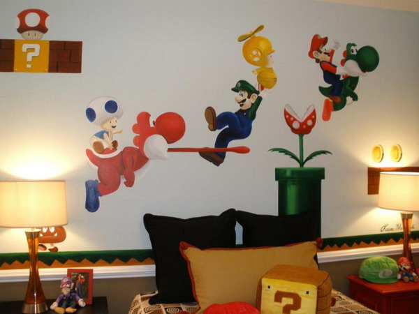 Inspiration Mario Themed Room For Your Kids EverCoolHomes. Super Mario Wallpaper For Bedroom