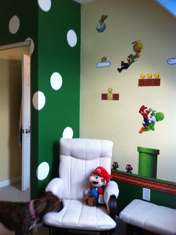 Mario themed bedroom