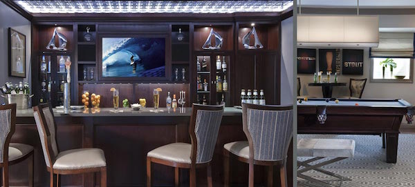 Classic Contemporary Home Bar