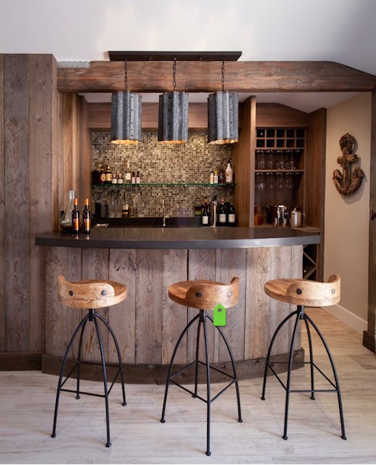 25+ Contemporary Home Bar Design Ideas