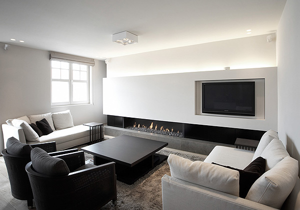 20 inspiring black and white living room designs White and black modern living room