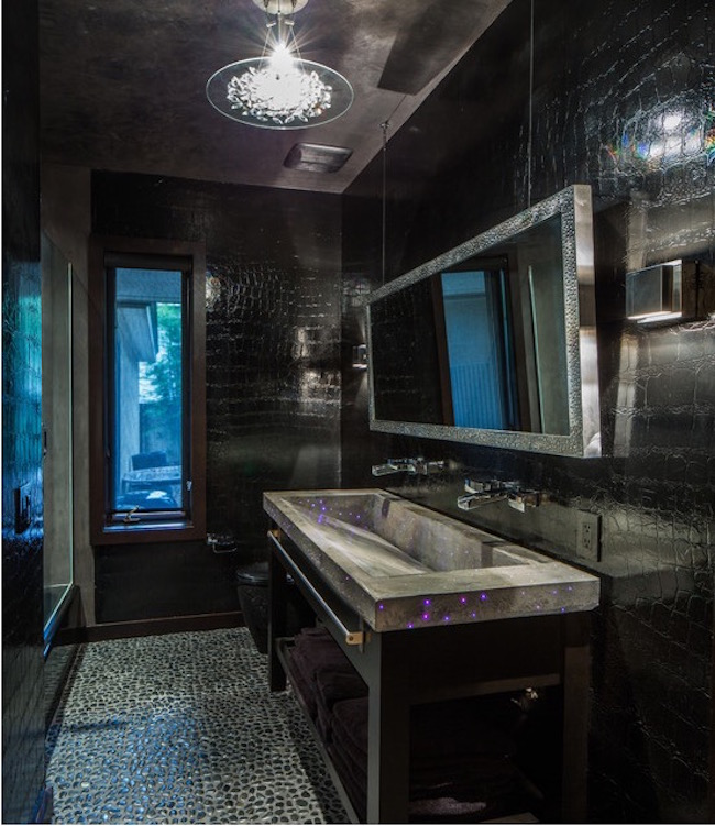 15+ Bold and Beautiful Black Bathroom Design Ideas ...