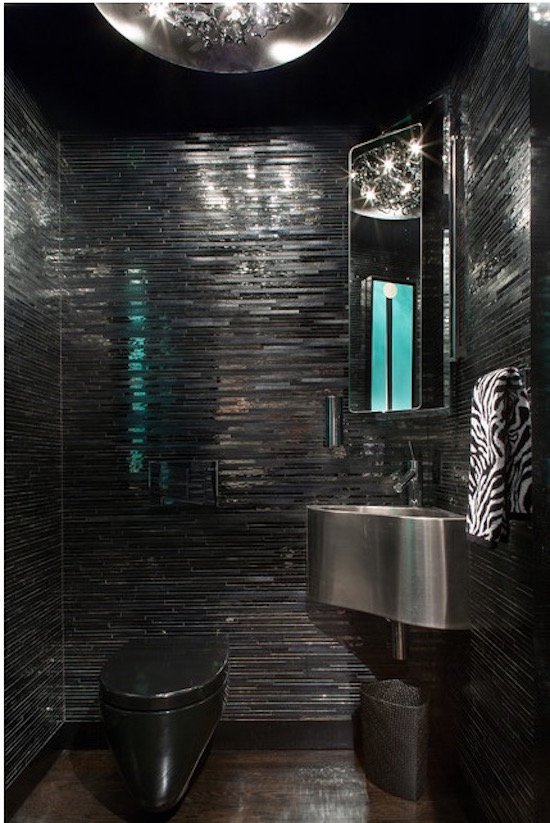 toilet design ideas pictures - 15 Bold and Beautiful Black Bathroom Design Ideas